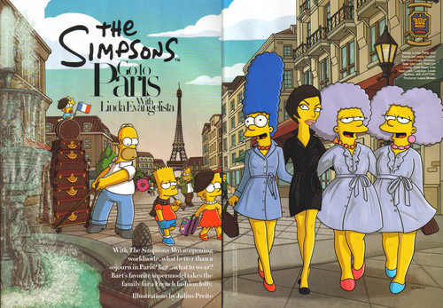 os simpsons wallpaper possibly containing animê entitled Simpsons Go To Paris