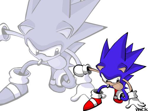 Sonic CD wallpaper- Sonic