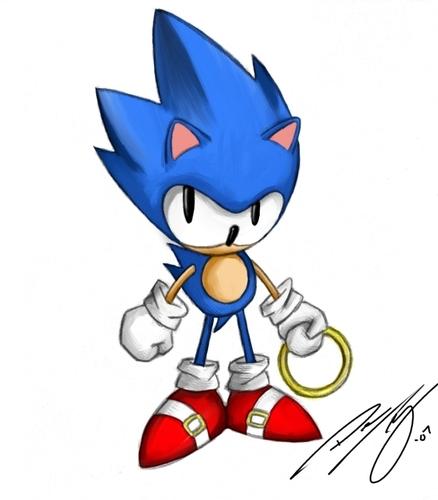 Sonic in Sonic CD