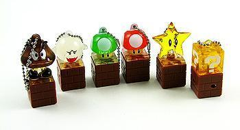 Super Mario Light Up Keychains