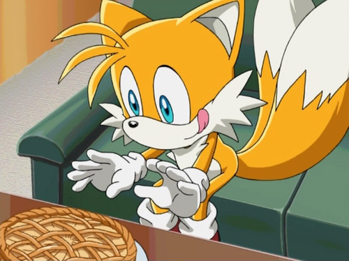 "Miles ""Tails"" Prower wallpaper probably containing anime called Tails and the pie XD"