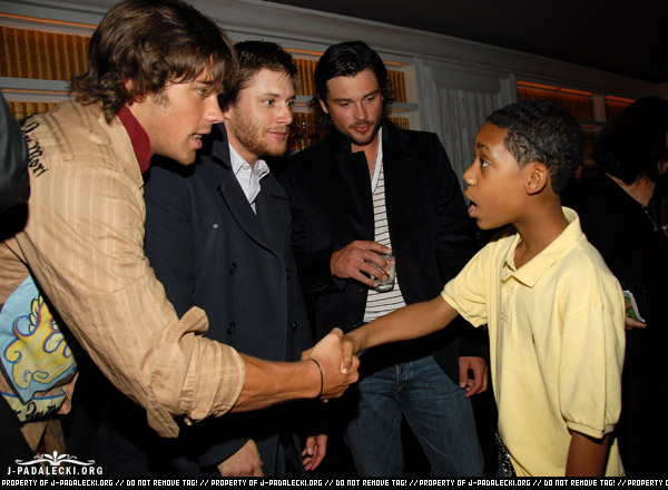 Jared Padalecki And Jensen Ackles The CW  Work Upfront   Party