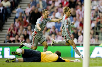 Torres in action for Liverpool