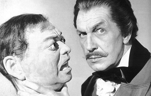Vincent Price wallpaper possibly with a business suit entitled Vincent and Peter Lorre's Head!
