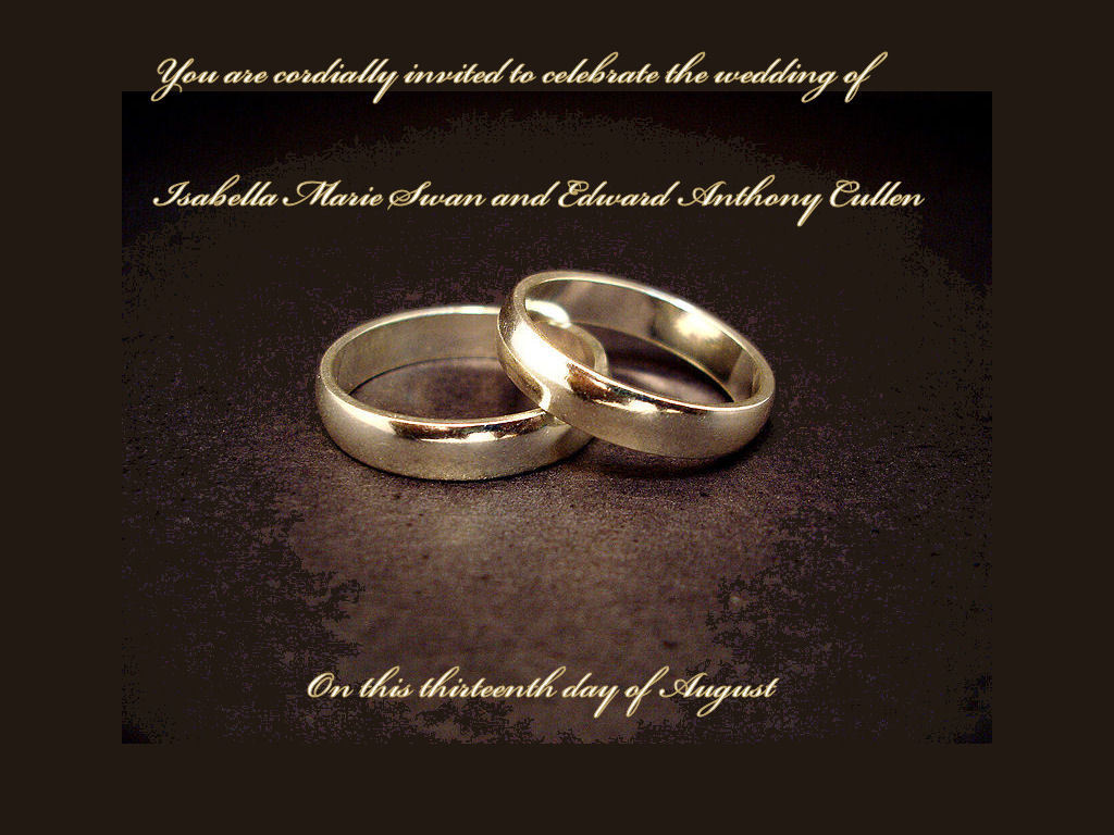 Twilight Series Images Wedding Invitation Hd Wallpaper And