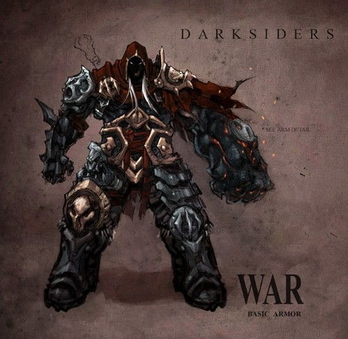 Wrath of War concept art: War's Basic Armour - darksiders Photo