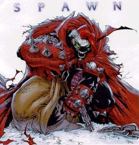 Todd McFarlane's Spawn wallpaper entitled X-Mas Spawn
