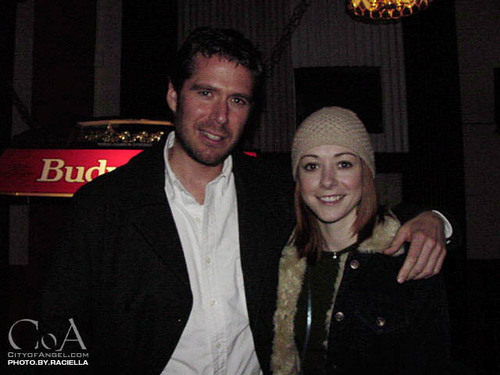 alyson and alexis at buffy party - alyson-hannigan Photo