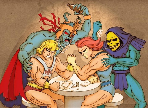 Thundercats 壁紙 containing アニメ titled arm wrestling