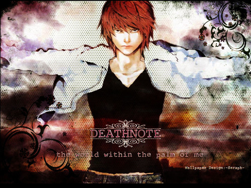 Light Yagami wallpaper possibly containing a sign and anime entitled light