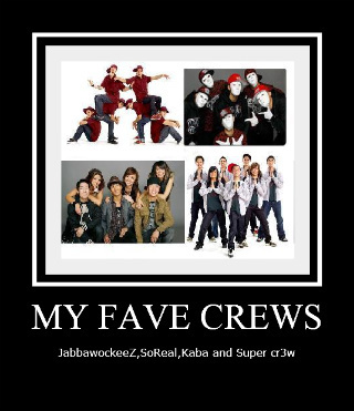 America's Best Dance Crew wallpaper containing anime titled most fave crews