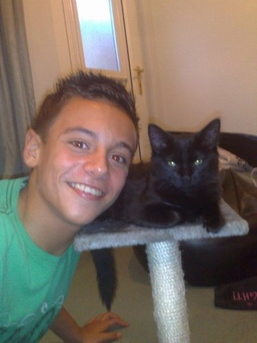 Tom Daley wallpaper containing a kitten called thomas & cat. ;)