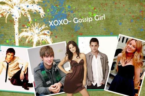 Gossip Girl wallpaper containing a sign and a portrait called xoxo gossip girl
