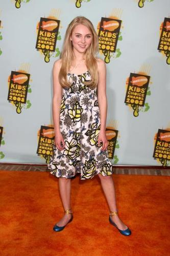 AnnaSophia at 2008 Kids Choice Awards