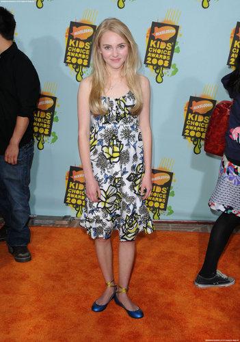 AnnaSophia at the 2008 Kids Choice Awards