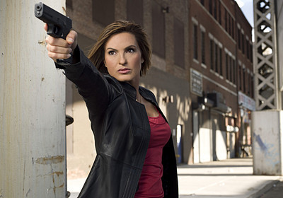 Law and Order SVU wallpaper containing a street and a business suit entitled Det. Olivia Benson