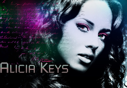 Alicia Keys wallpaper containing anime entitled Alicia Keys