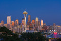 Seattle skyline with Space Needle at dusk