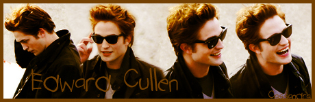 Robert Pattinson Hintergrund with sunglasses entitled Edward Cullen Banner