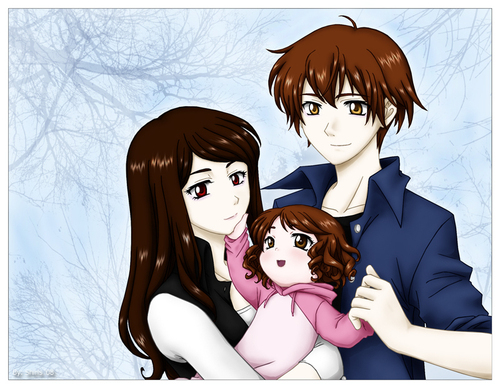 Twilight Series wallpaper possibly with anime called Edward/Rennesme/ Bella