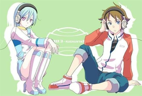 Eureka 7, headphones.
