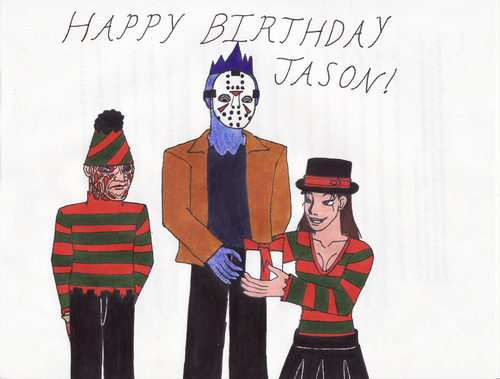 《13号星期五》 壁纸 containing 日本动漫 called Happy Birthday Jason
