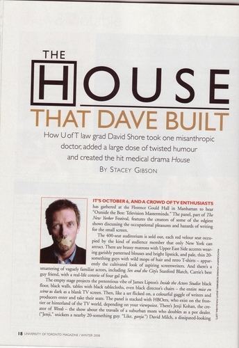 Interview with David Shore (Page 1)