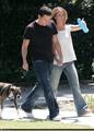 Jennifer & Ross walking their dog