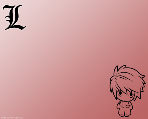 L chibi wallpaper