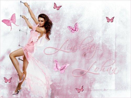 Lindsay Lohan fond d'écran possibly containing a portrait titled Lindsay