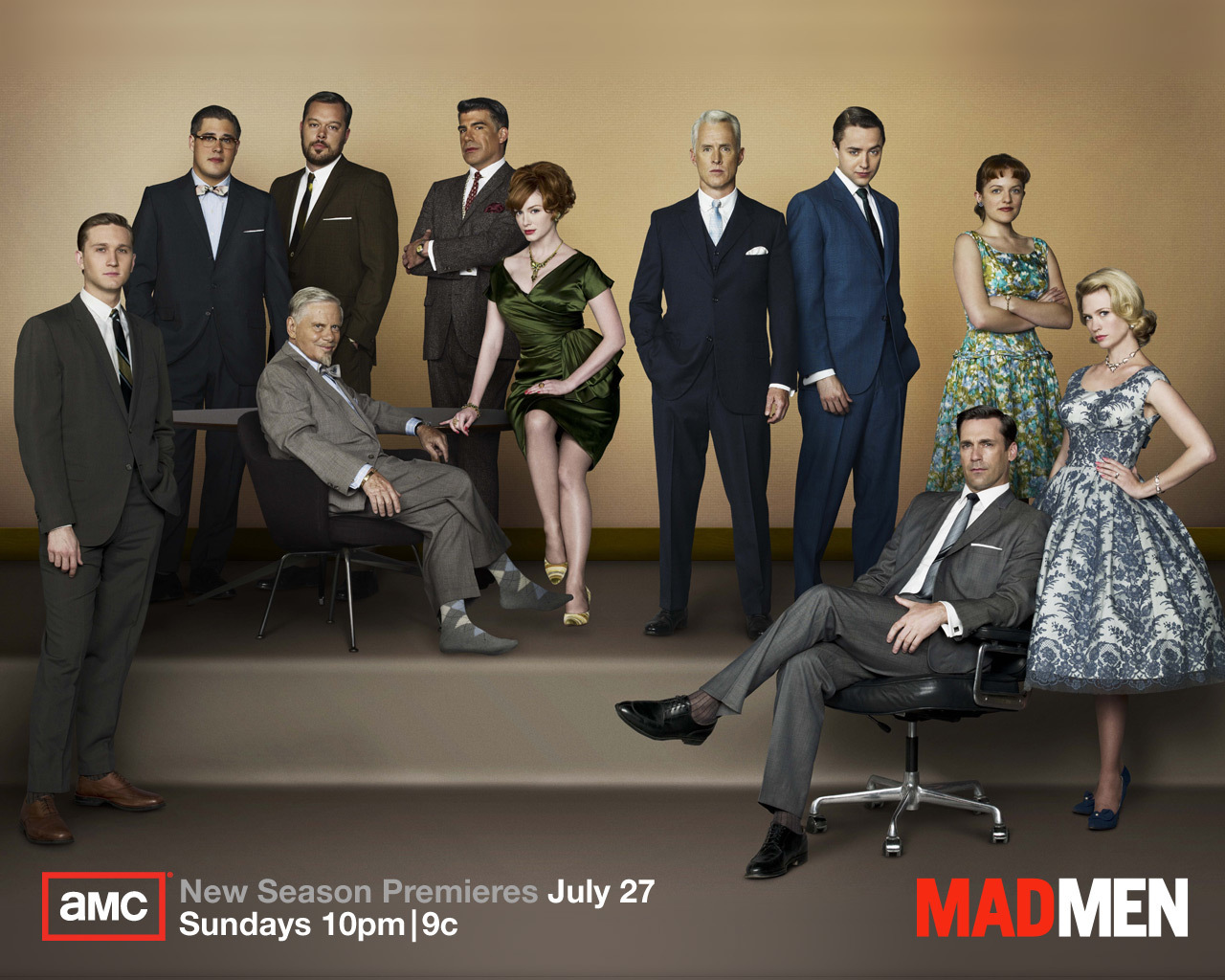 MM cast wallpaper Season 2 - Mad Men Wallpaper (2255260 ...