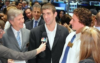 Michael Phelps @ NYSE