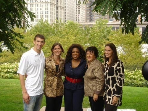 Michael with his Family and Oprah
