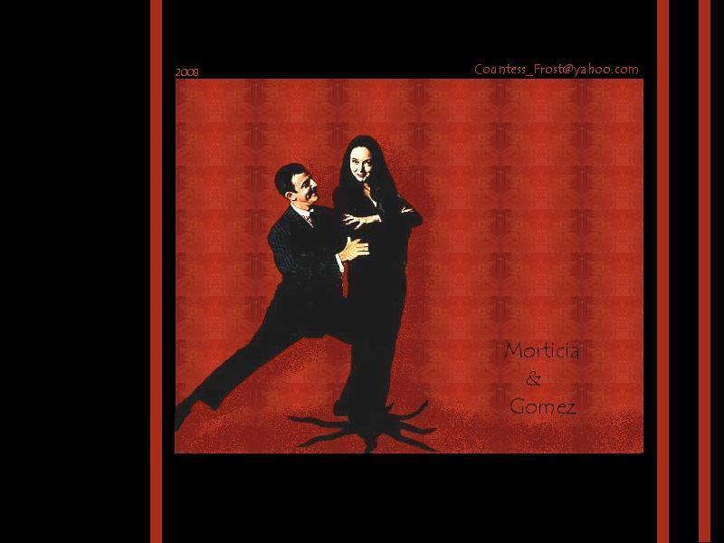 Gomez morticia and Morticia Addams