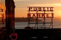 Pike Place Market at Sunset - seattle photo