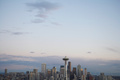 Seattle Skyline, Dusk, Elevated View - seattle photo