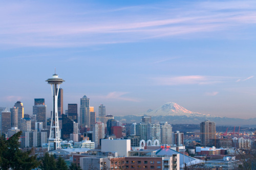 Seattle Skyline and Mount Rainier
