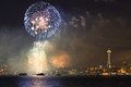 Fireworks Over Elliott Bay - seattle photo