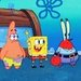 Spongebob, Patrick, and Mr. Krabs