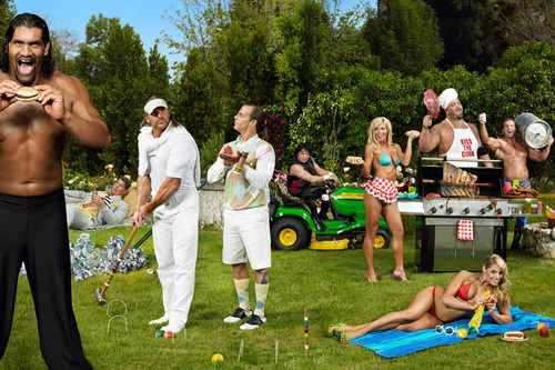 Professional Wrestling wallpaper possibly with a croquet entitled WWE