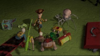 toy story wallpaper entitled Woody & Sid's Toys