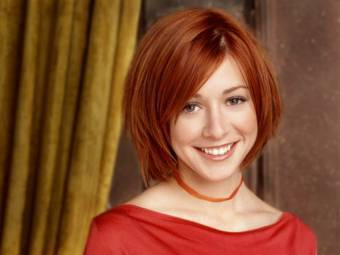 Alyson Hannigan kertas dinding containing a portrait entitled alyson as willow