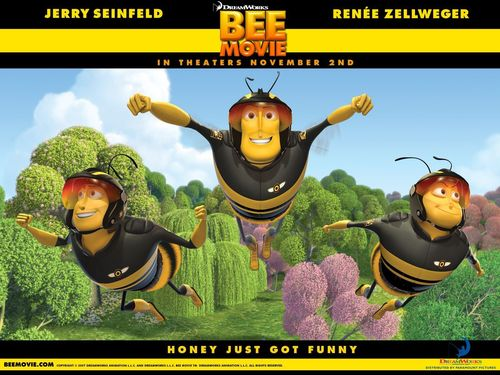 films achtergrond with anime called bee movie