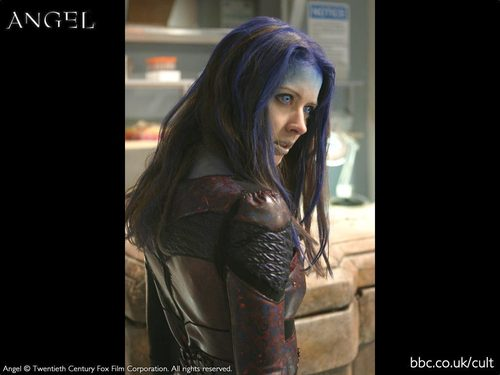 Angel wallpaper with a breastplate titled illyria