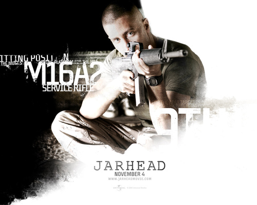 Film wallpaper possibly containing a portrait titled jarhead