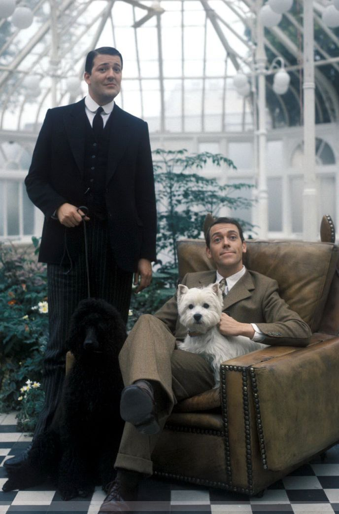 hugh laurie as 39 bertie wooster 39 and stephen fry as 39 jeeves 39 are wonderful in the jeeves and. Black Bedroom Furniture Sets. Home Design Ideas