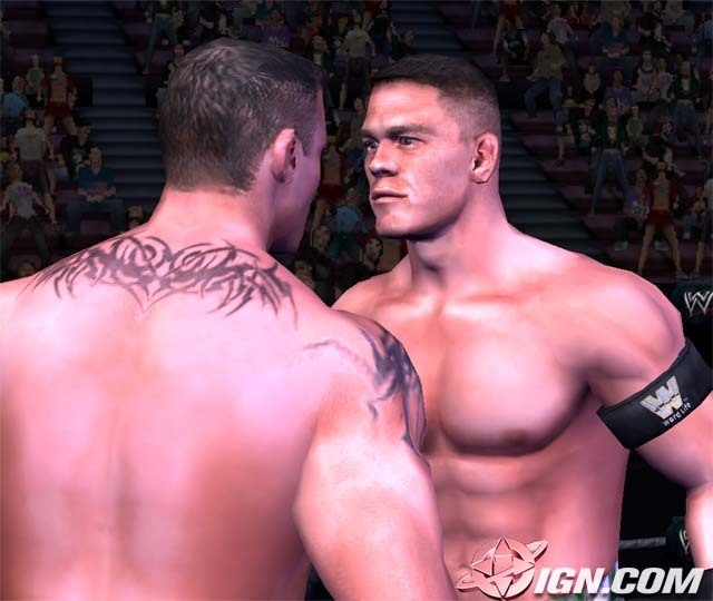 pictures of john cena and randy orton. john cena vs randy orton