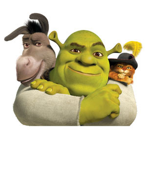shrek the fourth photos: shrek, puss and donkey