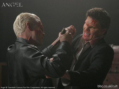 spike and angel, season 5, fights - spangel Wallpaper
