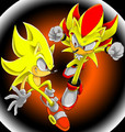 super hedgehogs - super-sonic-and-super-shadow photo